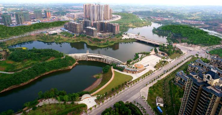 自贡市东部新城规划图